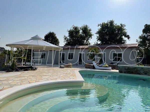 casetta coibentata per piscina
